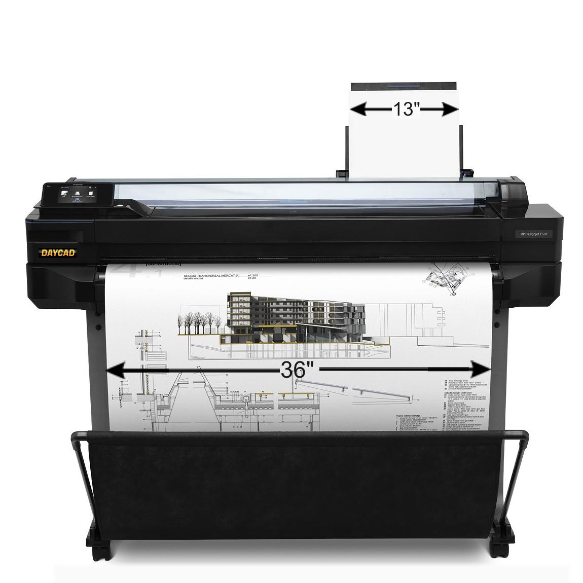 Daycad U00ae  U2013 Hp Designjet T120 T520 Printer 24 U0026quot  36 U0026quot  Cq890a Cq893c Cq891c