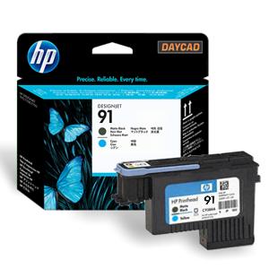 HP 91 Matte Black and Cyan Printhead (C9460A)
