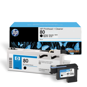 HP 80 Black Printhead and Printhead Cleaner (C4820A)