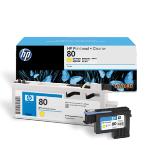 HP 80 Yellow Printhead and Printhead Cleaner (C4823A)
