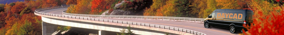 Sprinter on fall bridge