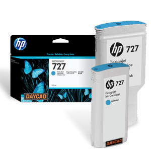 F9J76A HP 727 300-ml Cyan DesignJet Ink Cartridge