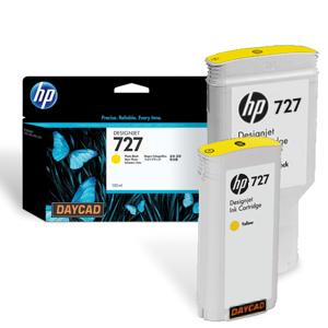 F9J78A HP 727 300-ml Yellow DesignJet Ink Cartridge