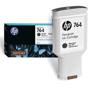 HP 764 300-ml Matte Black DesignJet Ink Cartridge C1Q16A